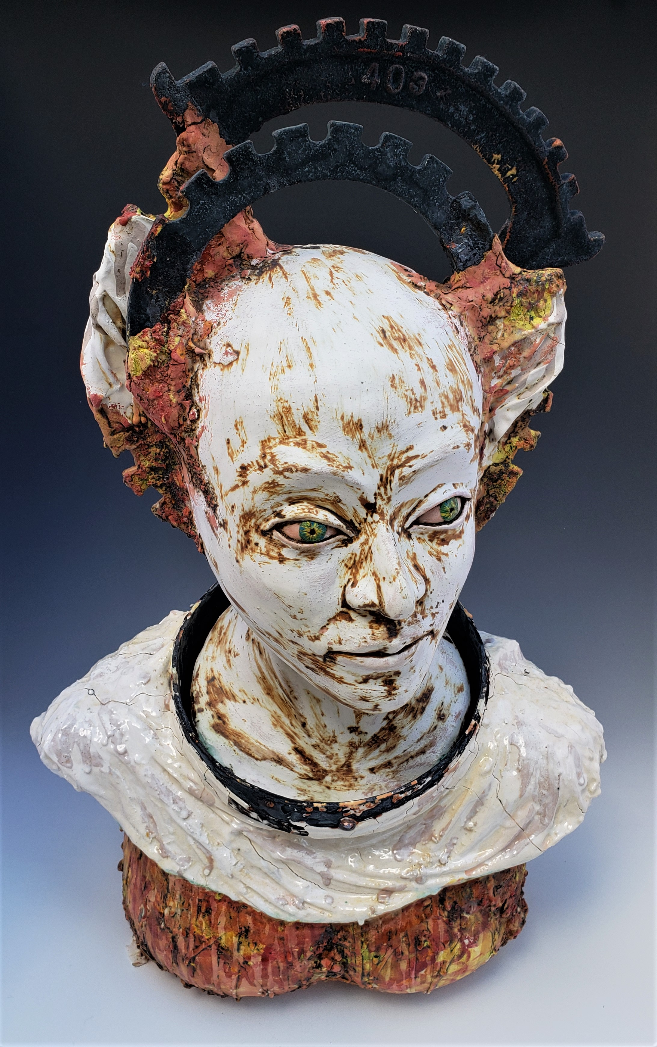 Yukhno 2, Guardian Angel, 2017, Ceramics, 24''x15''x10''