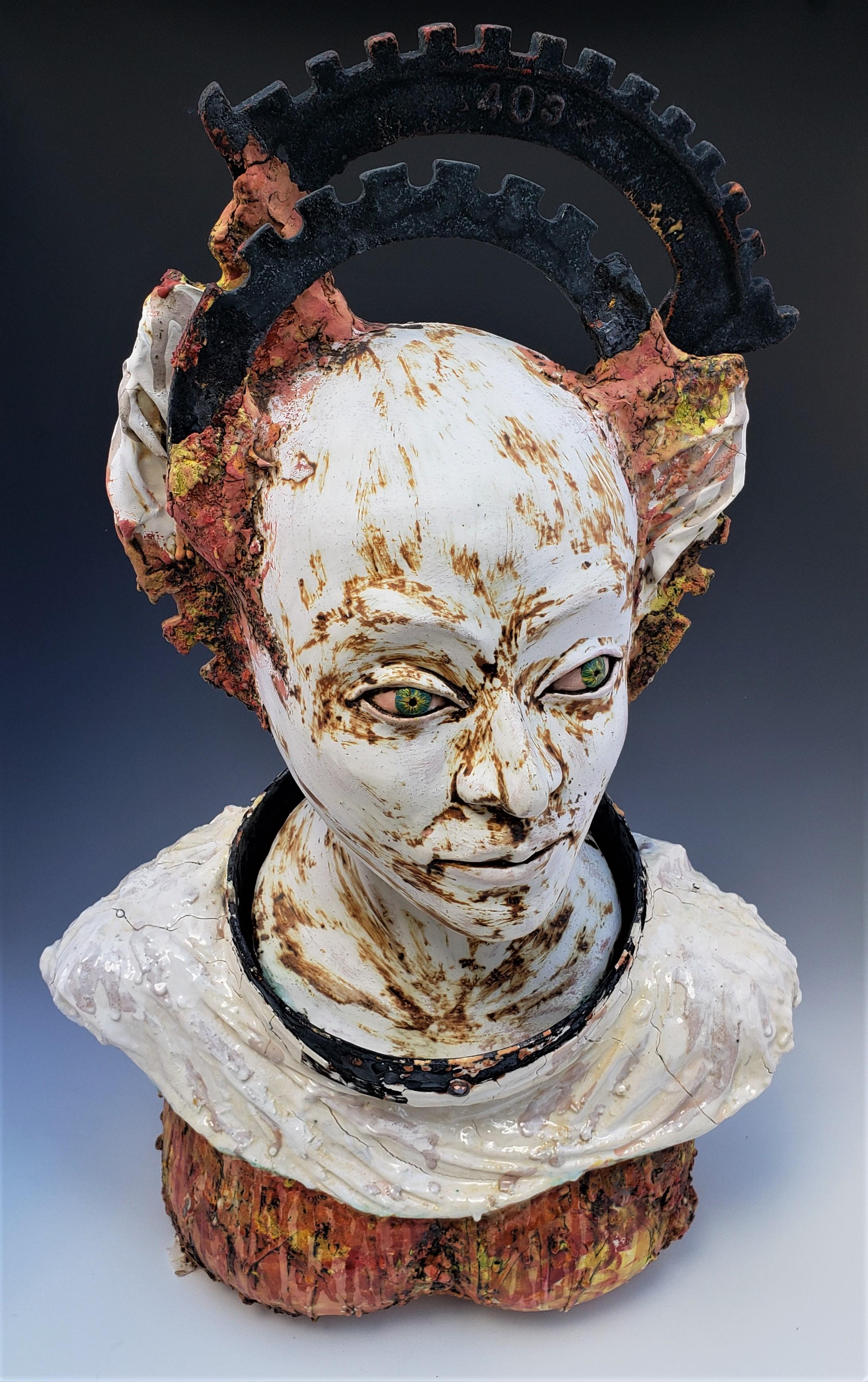 Yukhno 2, Guardian Angel, 2017, Ceramics, 24''x15''x10''